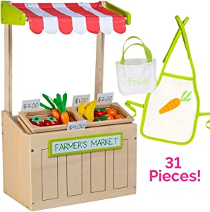 "Adora Amazing World ""Farmer's Market Wooden Play Set"" – 31 Piece Accessory Set for 18"" Dolls [Amazon Exclusive]"
