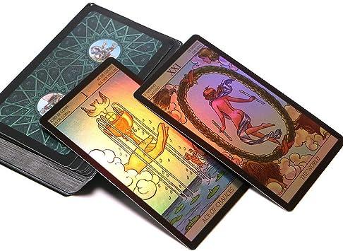 Xrten 78 Pcs Tarot Cartas, Cartas De Tarot De Destino Tarot Familiars Juego de Mesa, Rueda del año Leer Carta del Tarot del Destino para Uso Personal: Amazon.es: Electrónica