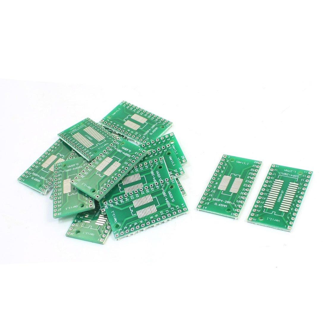 15PCS SMD SOP28 SSOP28 TSSOP28 0.65mm 1.27mm to DIP 2.54mm PCB Adapter uxcell a14062100ux0256