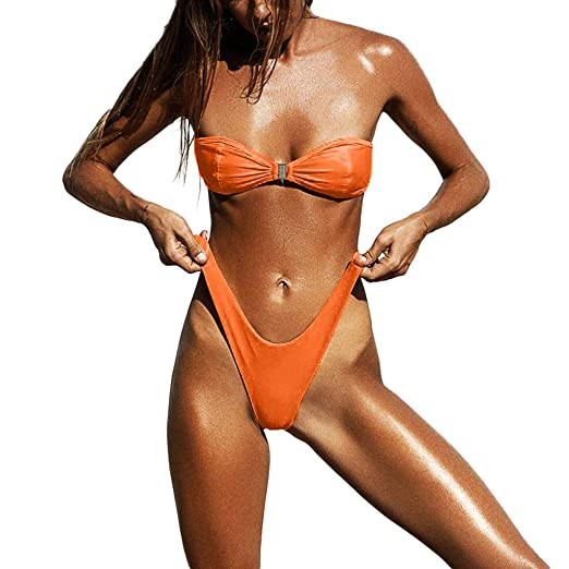 6a92e2e2e3954 Amazon.com: AMSKY Swimsuits for Men,Women Sexy Bikini Set Push-Up ...