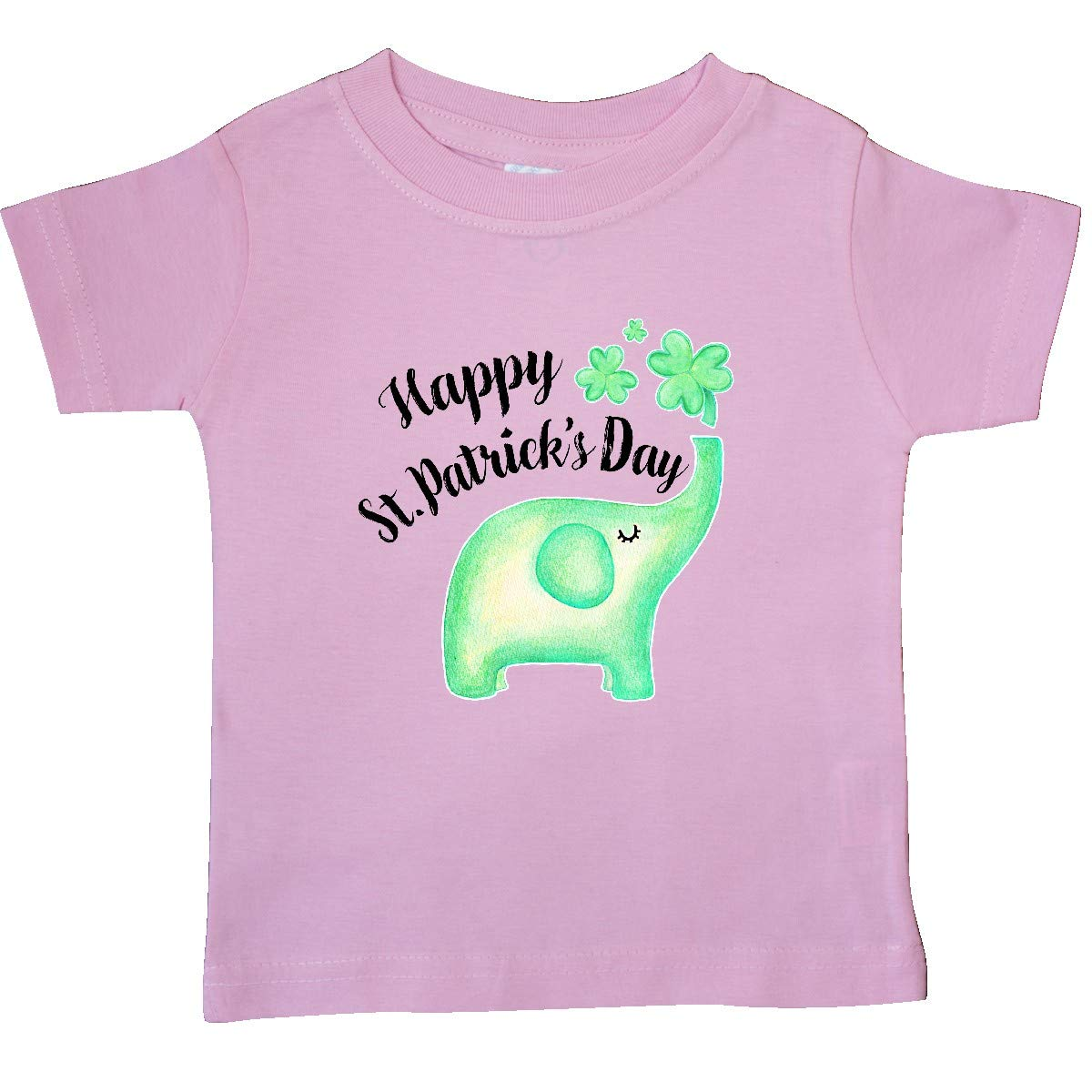 inktastic Happy St Patricks Day Green Elephant Baby T-Shirt