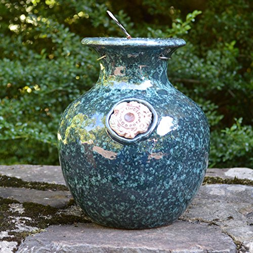 - Green Marble Down Under Pot - Large Upside Down Pot