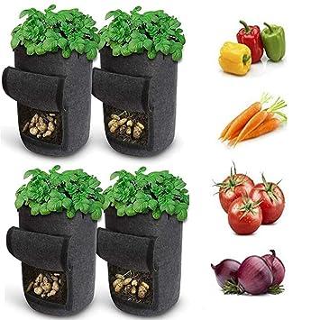 Bolsas de cultivo de papa de 7 galones, bolsa de planta con ...