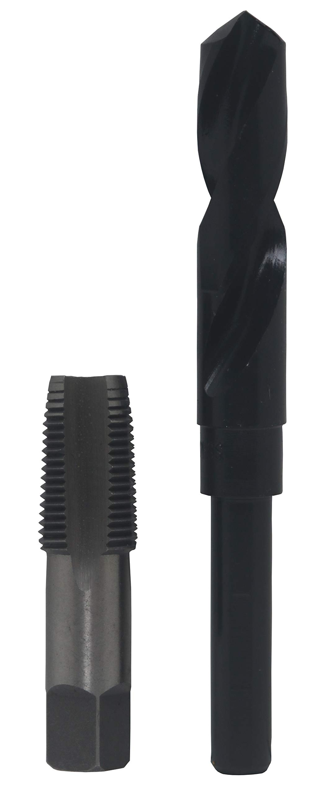 Drill America 1/2'' Carbon Steel NPT Pipe Tap and 23/32'' High Speed Steel Drill Bit Set, POU Series