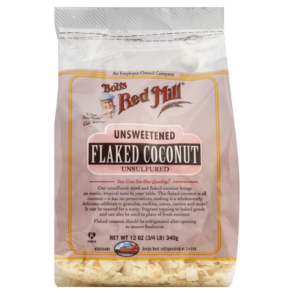 Bobs Red Mill Flaked Coconut, Unsweetened 12.0 OZ(Pack of 6)