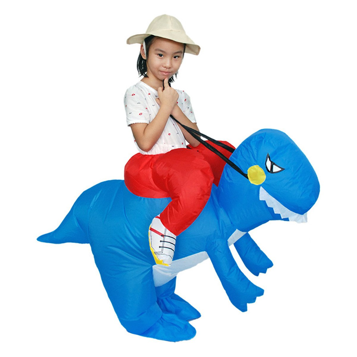 Tricandide Kids Halloween Costume Inflatable Suit Blow Up Outfit TRCQF-ZLJ-KKZ-BLUEDINOSAURS