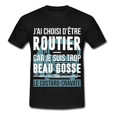 a6e030f661bc8 Spreadshirt Routier Trop Beau Gosse T-Shirt Homme  Amazon.fr  Vêtements et  accessoires