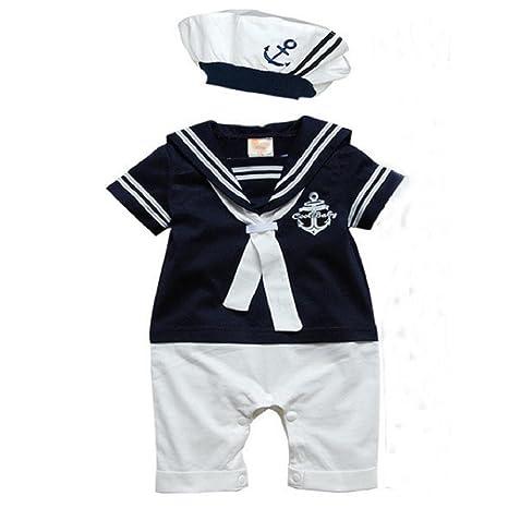 Ouneed 1set Pelele de bebé Niños gorro de algodón de manga ...