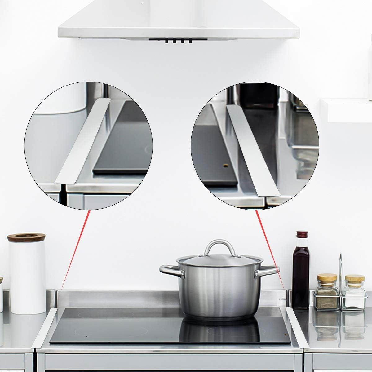 2PCS Silicone Poêle compteur GAP Housse Résistant à La Chaleur Fente remplir Cuisine