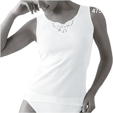 Princesa 4750 - Camiseta Tirantes Mujer 100% Algodon.: Amazon.es: Ropa y accesorios