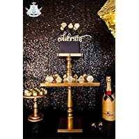 TRLYC 4Ft7Ft Sparkly Black Party Photo Booth Backdrop Wedding Sequin Backdrop Fabric