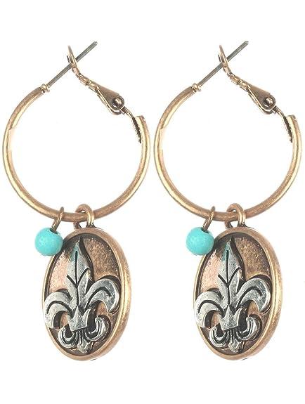 d6969e004b6d0 Amazon.com: Destinee's gold COIN CHARM MINI HOOP EARRING: Jewelry
