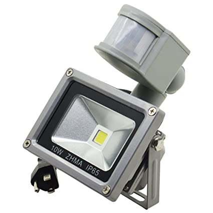 ZHMA Motion Sensor Floodlights 10W LED Outdoor Smart PIR Flood L& Waterproof 6000K with  sc 1 st  Amazon.com & ZHMA Motion Sensor Floodlights 10W LED Outdoor Smart PIR Flood ...