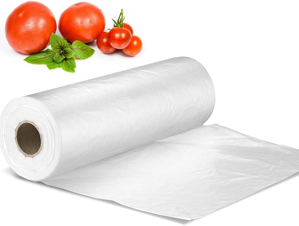 "12"" X 16"" Plastic Produce Bag on a Roll, Bread and Grocery Clear Bag, 350 Bags/Roll"