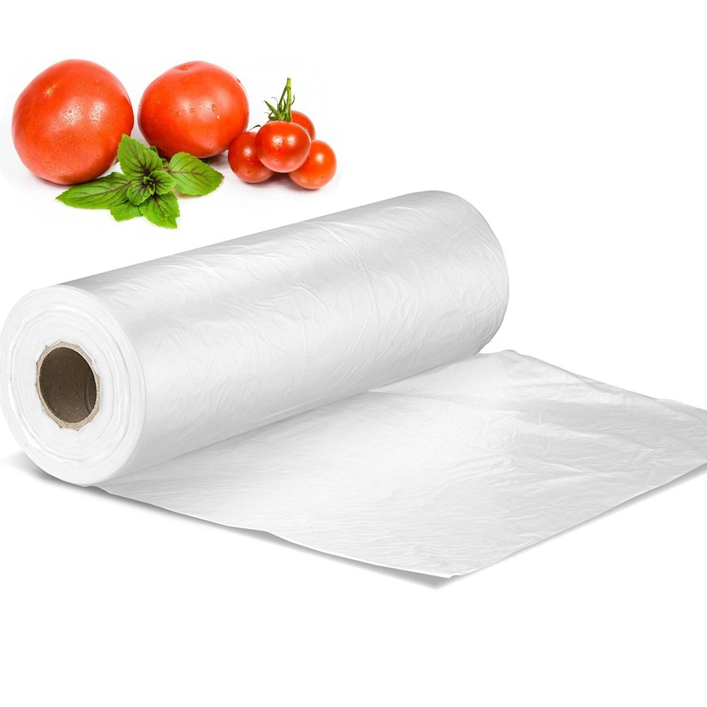 12 X 16 Plastic Produce Bag on a Roll, Bread and Grocery Clear Bag, 350 Bags/Roll FungLam