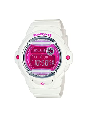 Amazon.com: Casio Womens Baby G Quartz 200M WR Shock Resistant Resin Color: White with Pink Face (Model BG-169R-7): Casio: Watches