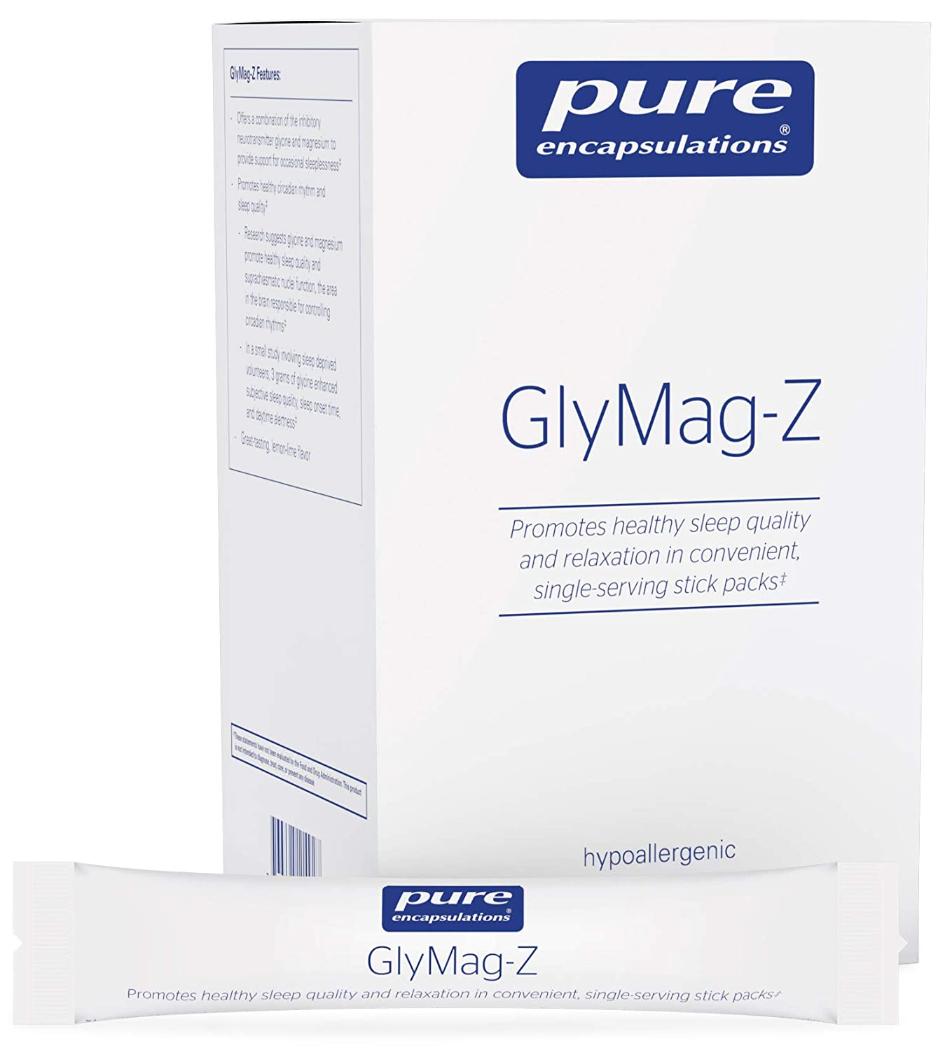 Amazon.com: Pure Encapsulations - GlyMag-Z - Supports Relaxation and Restful Sleep* - 30 Single Serving Packets: Health & Personal Care