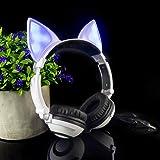 LIMSON Over-Ear Headphones,Stereo LED Light Up On-Ear Headphones for Kids Girls Boys Adults,Gaming Earphones for Phones…