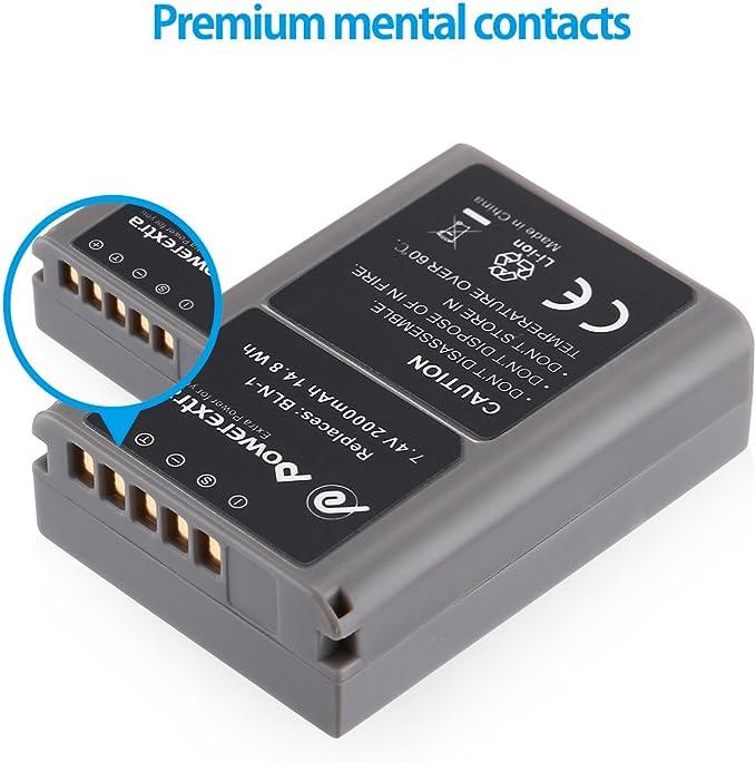 Powerextra Lot de 2 batteries de rechange pour Olympus BLN-1 PS-BLN-1 vers Olympus Stylus XZ-2 Pen-F Pen E-P5 E-M1 OM-D EM1 EM5 et OM-D E-M5 Mark II etc.