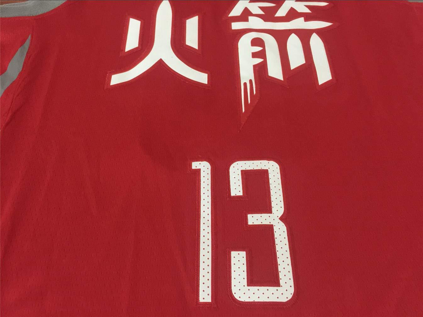 Swingman Ricamata Abbigliamento Sportivo Basket Jersey Maglia Canotta 13 Westbrook Nr NBA Houston Rockets Harden Nr