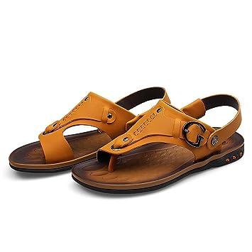 SHANGXIAN Unisex Flip-flops Thong Sandale lässige Herren Slipper Schuhe , yellow orange , 42