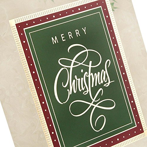 Hallmark Christmas Boxed Cards (Holiday Holly, 40 Christmas Greeting Cards and 40 Envelopes) Photo #7