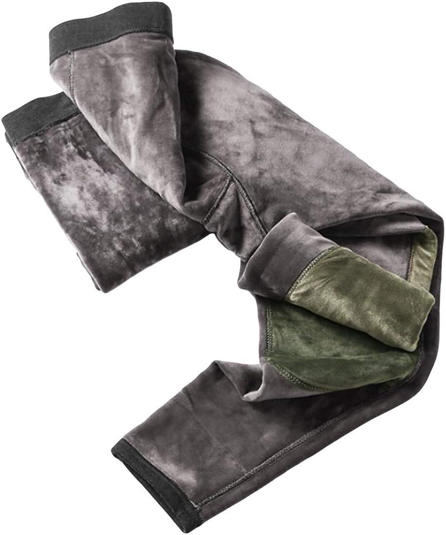 Huicai Men Winter Knee pad Underwear Leggings Thermal Trousers high Waist Pants