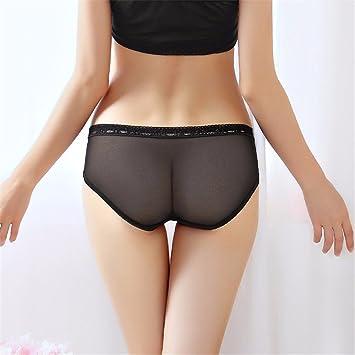 XJKLFJSIU Atraer A La Cintura Baja Gasa Sexy Ropa Interior Chica/Sexy Tanga Transparente Femenino