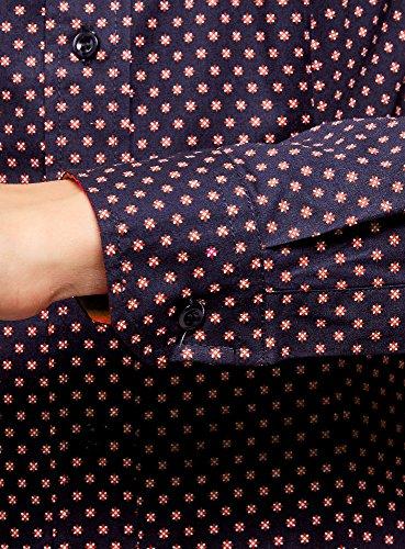 Ajuste Femme Bleu oodji Chemise Imprime 794dg Collection A1tTTnqP