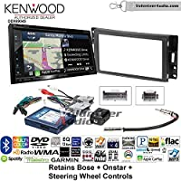 Volunteer Audio Kenwood Excelon DNX694S Double Din Radio Install Kit with GPS Navigation System Android Auto Apple CarPlay Fits 2004-2006 Pontiac GTO With Bose, Onstar, SWC