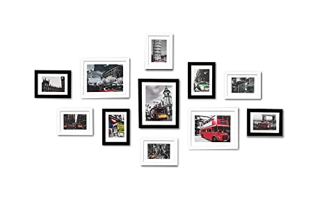WOOD MEETS COLOR Picture Frames with Really Glass Photo Frames Set ...