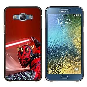 TECHCASE---Cubierta de la caja de protección para la piel dura ** Samsung Galaxy E7 E700 ** --Darth Mutilar Light Saber