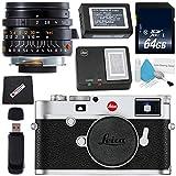 Leica M10 Digital Rangefinder Camera (Silver) + Leica Summicron-M 28mm f/2.0 Lens + 64GB SDXC Card + Card Reader + Microfiber Cloth Bundle
