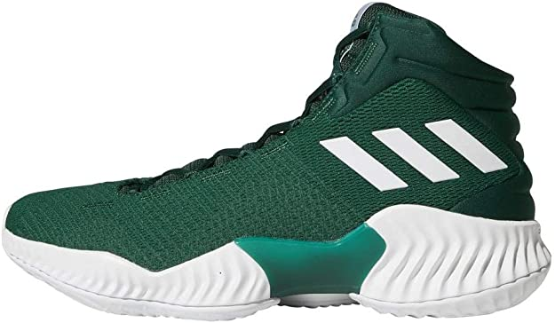adidas Men's Pro Bounce 2018 Basketball Shoe, Dark Green, 8.5 M US