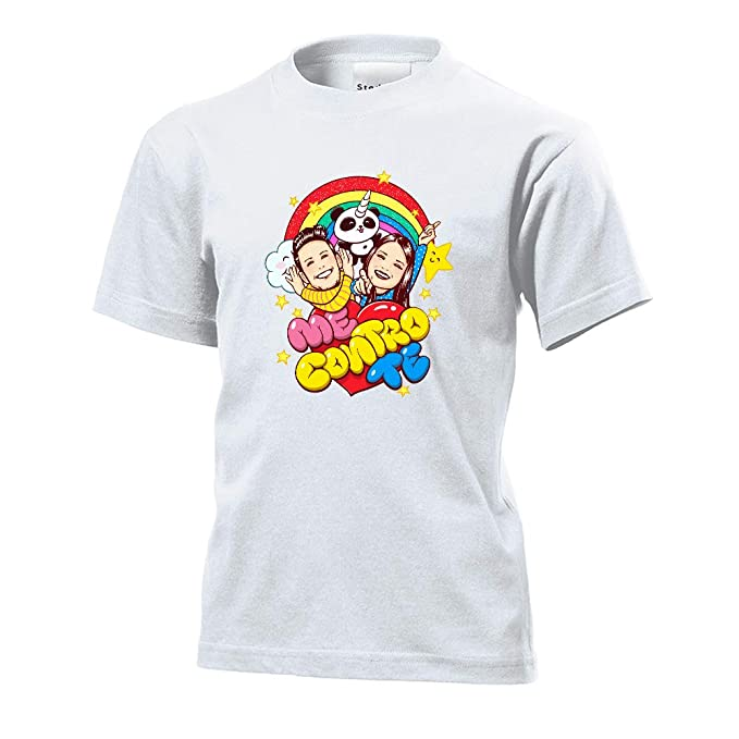 T-shirt Maglia Maglietta Me Contro Te Estate 100% Cotone Lui Sofi Youtube T-shirt E Maglie