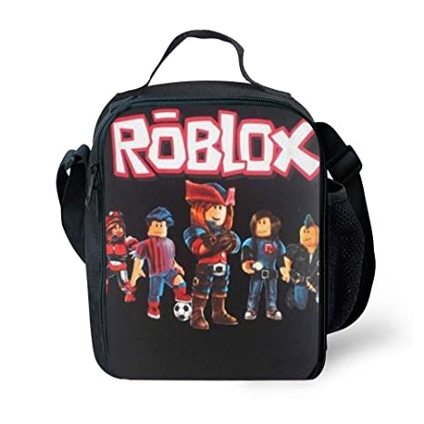 3ff532bee708 Kids Roblox Lunch Box Insulated Lunch Bag for Boys Girls Teens - Tough &  Spacious Lunchbox (Black Boy)
