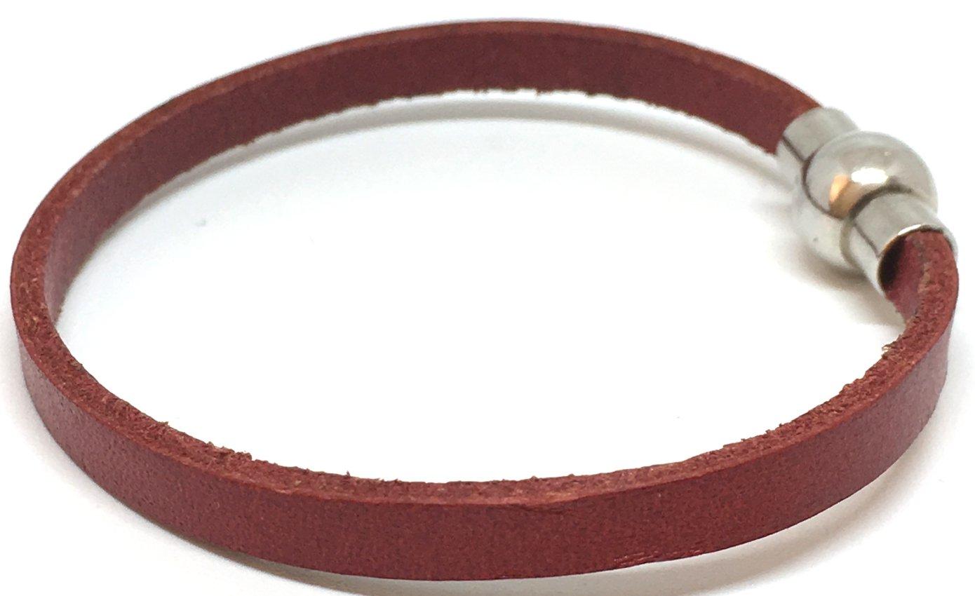 Personalised Handmade 5MM Wristband//Bracelet Leather-Unisex Free Shipping Black