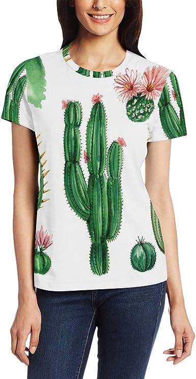 Camiseta para Mujeres niñas Arte Planta suculenta Cactus ...