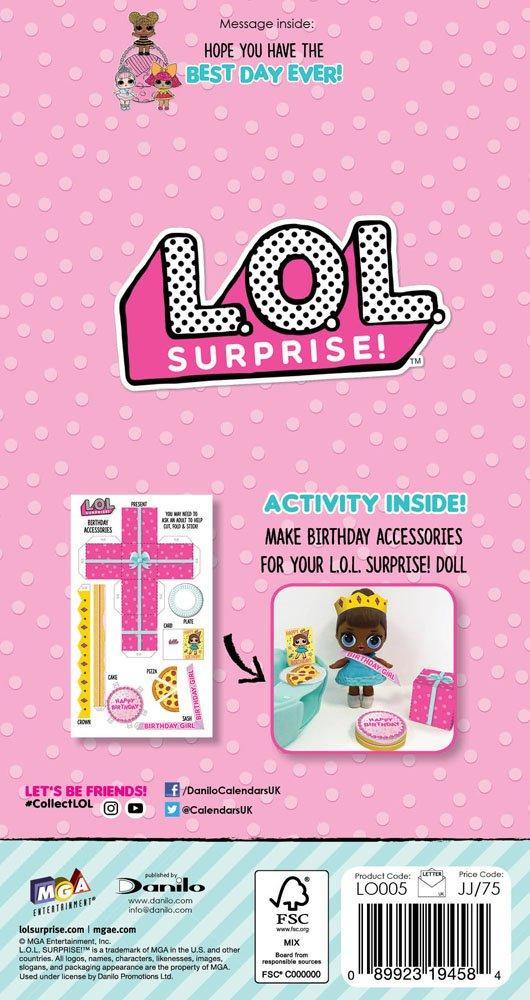 Tarjeta de cumpleaños LOL Surprise LO005