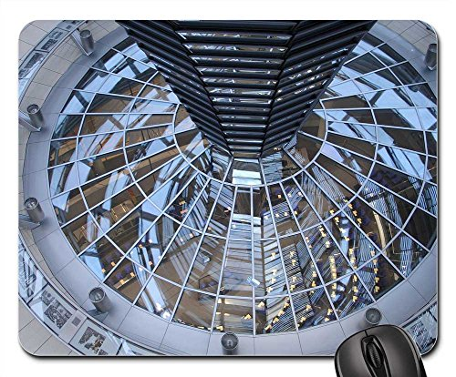 Mouse Pads - Reichstag Berlin Dome Glass Building Glass Dome
