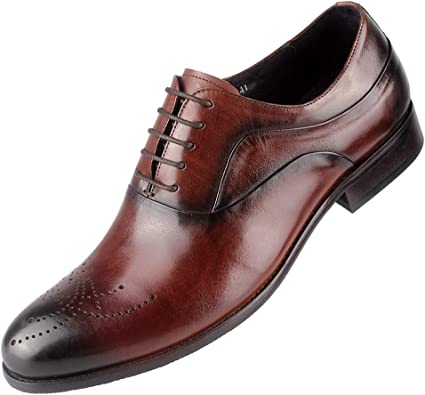 Amazon.com | Men's Oxfords Shoes Casual Formal Dress Business Shoes Genuine  Leather | Oxfords