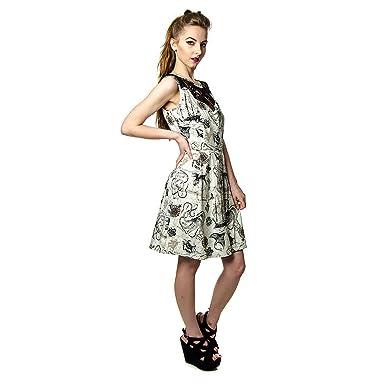 Jawbreaker Octavia Mini Kleid (Cremefarben/Schwarz) - Small: Amazon ...