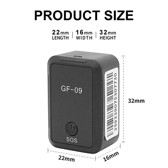 Rehomy Gf09 Localizador de GPS para Coche con Aplicaci/ón de Grabaci/ón Remota Dispositivo Antica/ída Control de Voz Grabaci/ón Rastreador en Tiempo Real