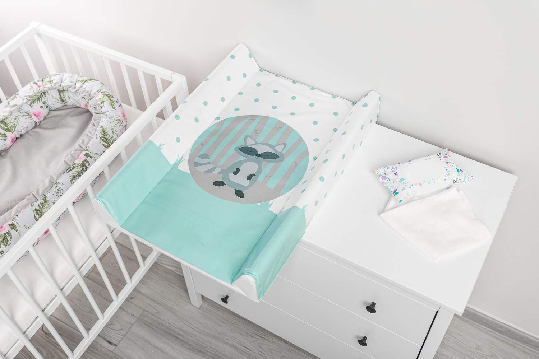 Baby Wickelauflage Wickelmulde Wickelunterlage 50 x 70 cm abwaschbar Wickeltischauflage Wickelaufsatz f/ür Kinderbett Unisex Hase