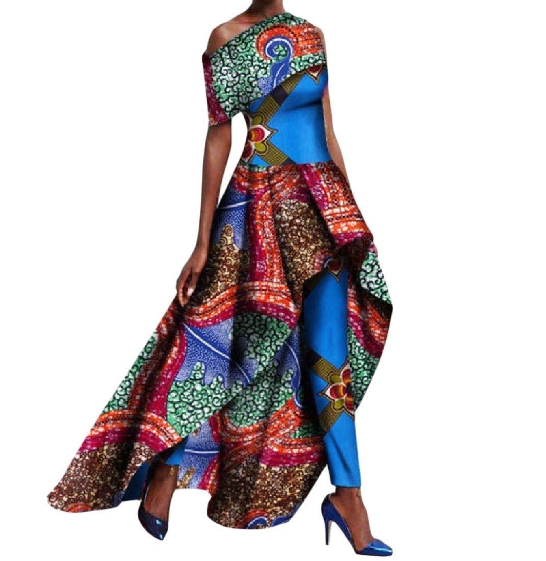 Mfasica Womens Fit Dashiki Long Pants Africa Big Pendulum Classic Long Dress 7 6XL
