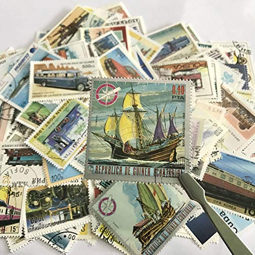 - |Stamps|PCS/Lot No Repeat Transport Postage Stamps with Postmark, Car Train Boats and Ships Transportations, for Collection Gifts|by ATUKI|
