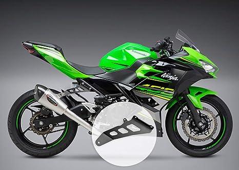 MOTO4U Motorcycle Exhaust Hanger Bracket for Kawasaki Ninja 400 2018 YOSHMURA Exhaust Pipe Motorcycle Accessories Black