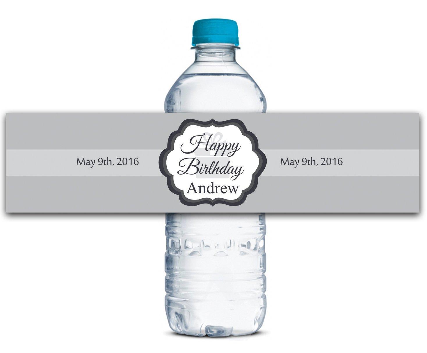 Geburtstags-Wasser-Flaschen-Etiketten Geburtstags-Wasser-Flaschen-Etiketten Geburtstags-Wasser-Flaschen-Etiketten Selbstklebende wasserdichte Kundenspezifische Geburtstags-Aufkleber 8  x 2  Zoll - 70 Etiketten B01A0W1KLA | Spielzeugwelt, fröhlicher Ozean  eb2bba