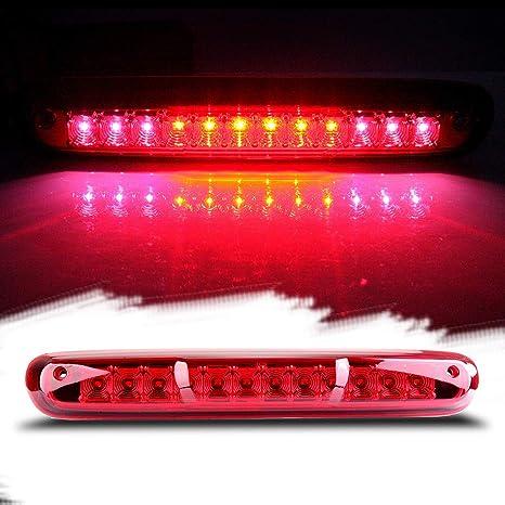 Red Lens 2007-2013 Chevy Silverado GMC Sierra LED 3rd Brake Light Cargo Lamp