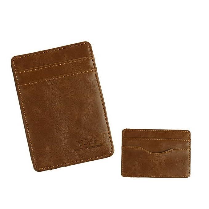 YCM060103 Titular caso Marrš®n cršŠdito / ID con el sostenedor 5 tarjetas de regalo hombre por Y&G / id coberturas de cršŠdito titular de la cartera: ...